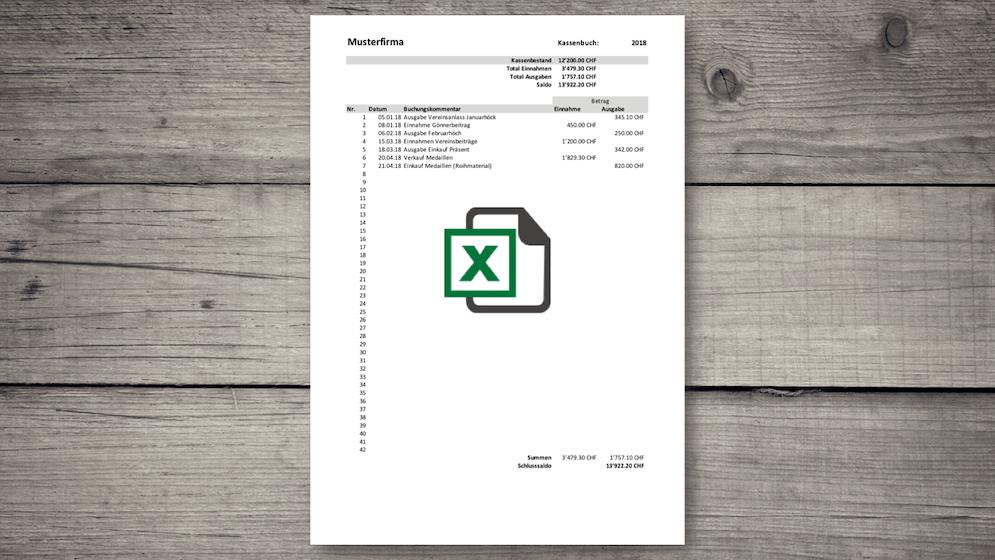 Kassenbuch Excel Vorlage kostenlos