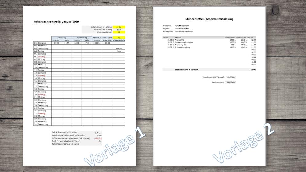Zeiterfassung Excel Vorlagen Arbeitszeiterfassung Schweiz