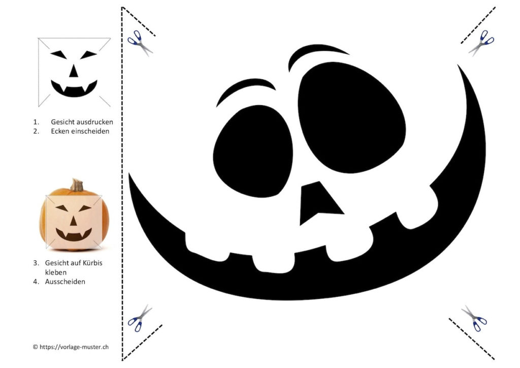 Atemberaubend Druckbare Halloween Kürbis Schablonen 2 Fotos - Ideen ...