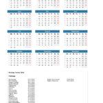 Jahreskalender 2018 Schweiz mit Kalenderwochen