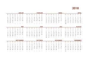 Kalender 2018 Simpel