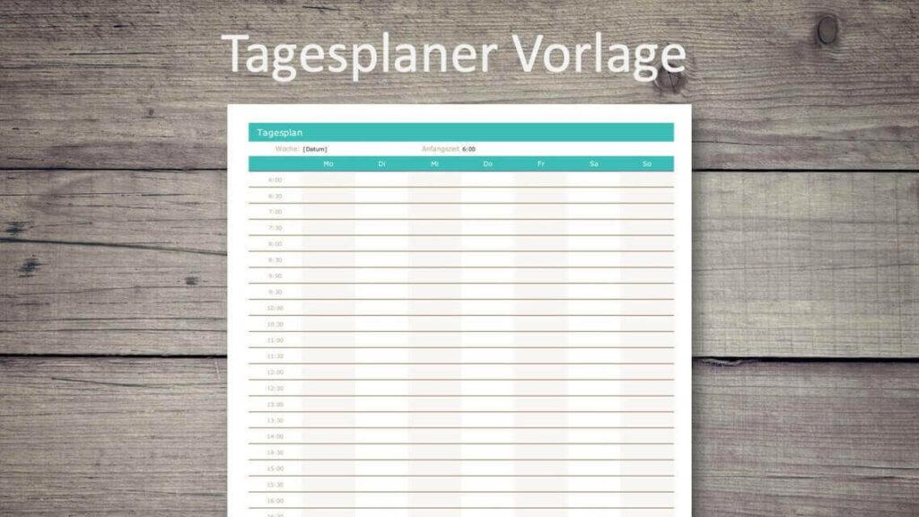 Tagesplaner Excel