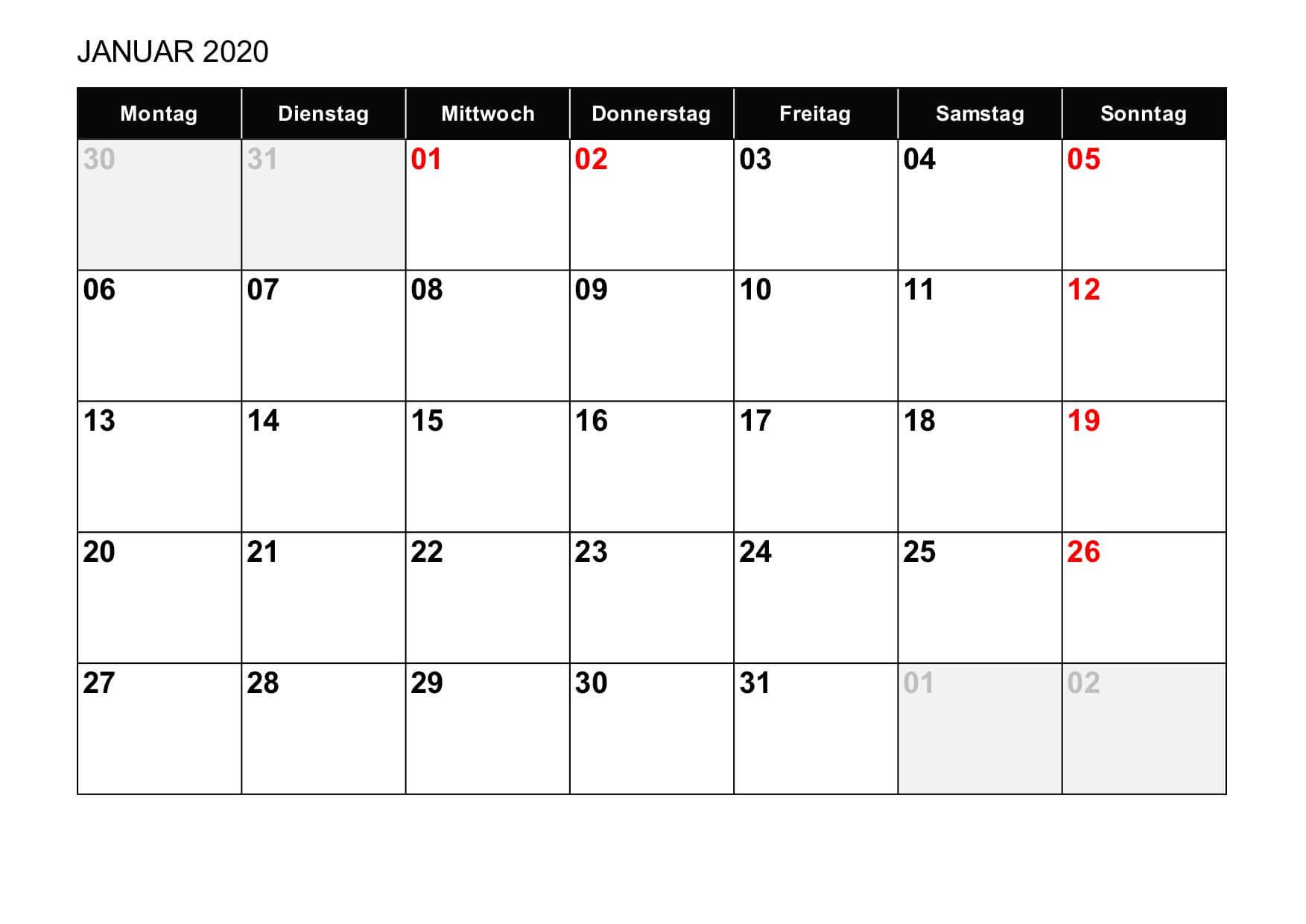 kalender 2020 schweiz excel vorlage. Black Bedroom Furniture Sets. Home Design Ideas