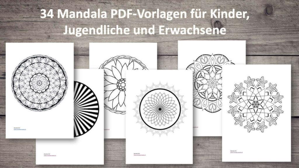 34 Mandala Zum Ausdrucken Ausmalen Für Kinder Und Erwachsene