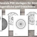 34 Mandala Vorlagen zum Ausdrucken und Ausmalen
