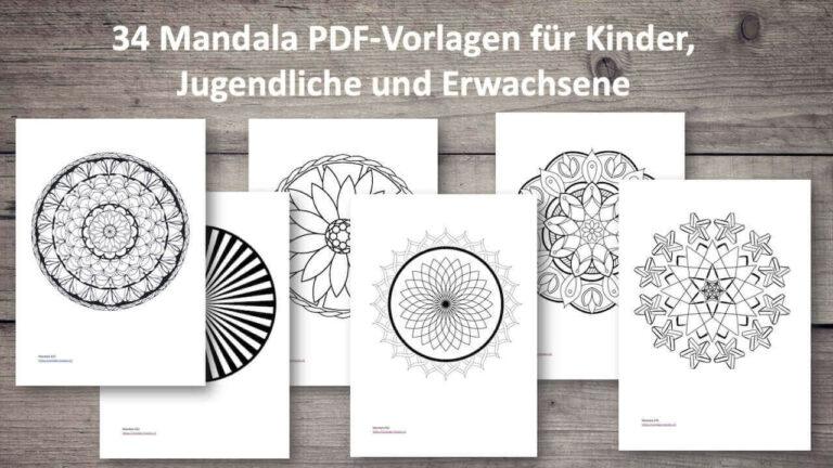 Mandala zum Ausmalen PDF-Vorlagen
