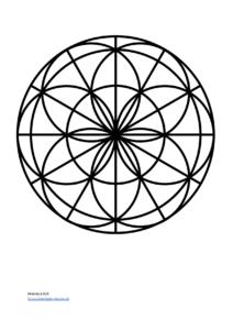 Mandala Vorlage für Kinder