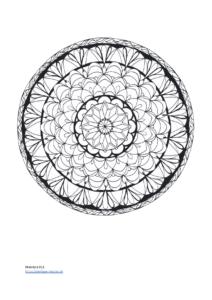 Ausmalen Mandala für Erwachsene