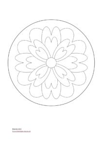 Mandala zum ausmalen für Kinder