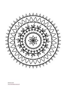 Mandala Vorlage für Kinder und Jugendliche