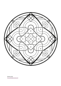 Mandala Malvorlage für Kinder und Jugendliche