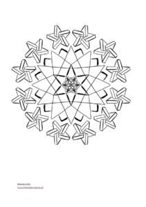 Mandala Vorlage für Kinder (PDF)