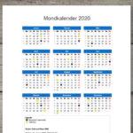 Mondkalender 2020 zum Ausdrucken