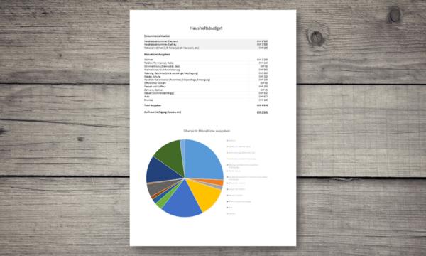 Haushaltsbudget Vorlage Header