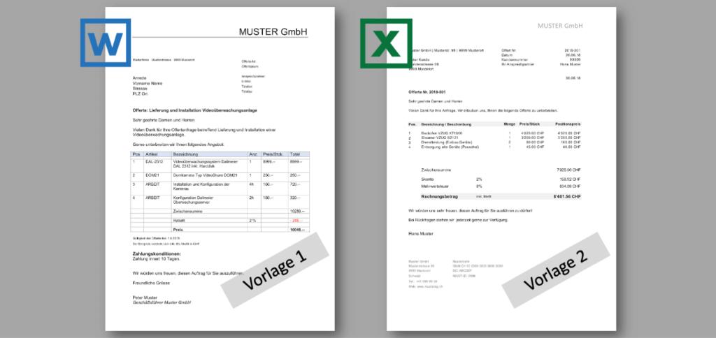 Offerten Vorlage Schweiz Header